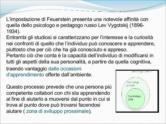 L'impostazione di Feuerstein presenta una notevole affinità con quella dello psicologo e pedagogo russo Lev Vygotskij (189...