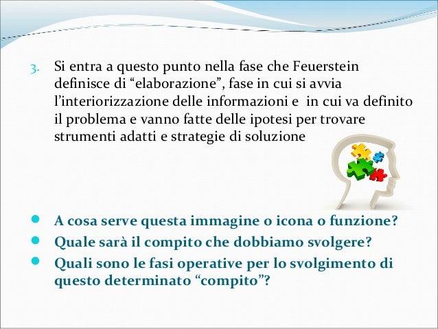 """3. Si entra a questo punto nella fase che Feuerstein definisce di """"elaborazione"""", fase in cui si avvia l'interiorizzazione..."""
