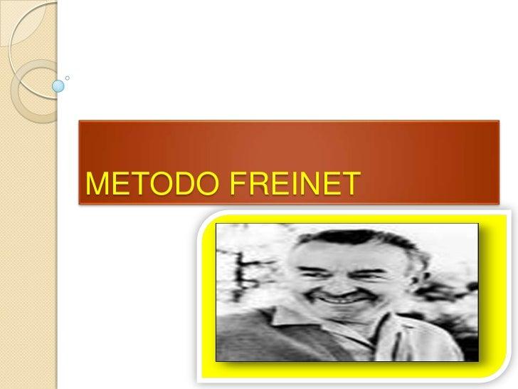 METODO FREINET<br />