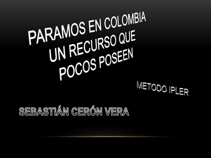 Los páramos son ecosistemas de montaña andinos que pertenecen alDominio Amazónico. Se ubican discontinuamente en el Neo tr...