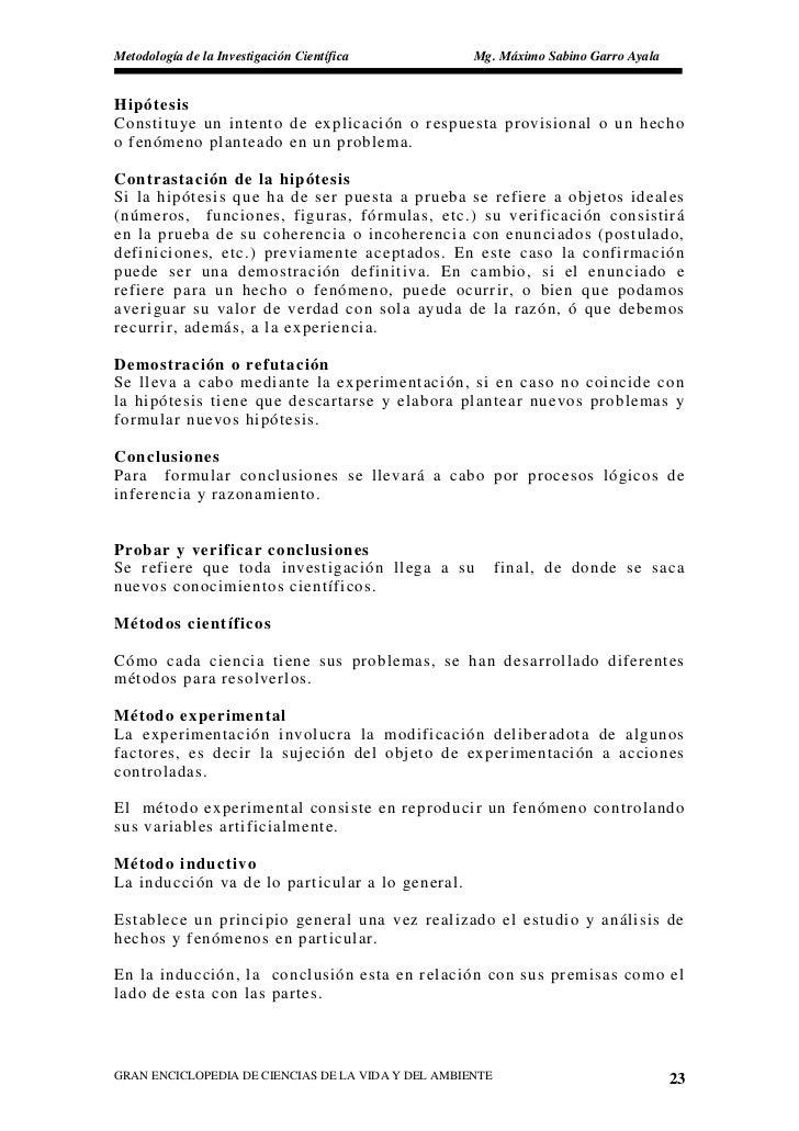 Metodología de la Investigación Científica          Mg. Máximo Sabino Garro Ayala   Hipótesis Constitu ye un intento de ex...