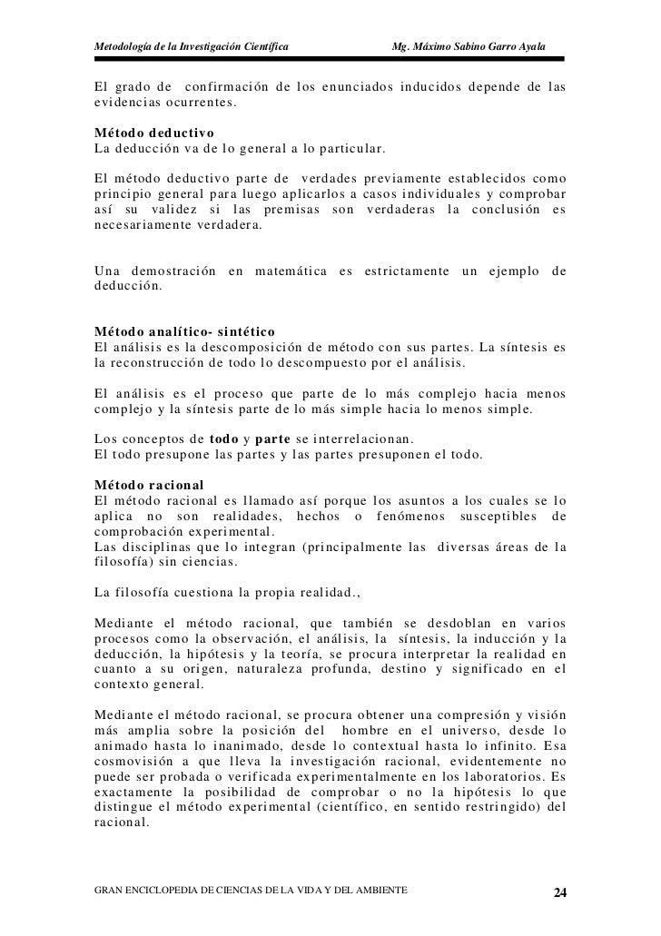 Metodología de la Investigación Científica          Mg. Máximo Sabino Garro Ayala   El grado de confirmación de los enunci...