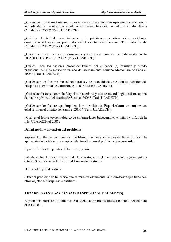 Metodología de la Investigación Científica              Mg. Máximo Sabino Garro Ayala   ¿Cuáles son los conocimientos sobr...