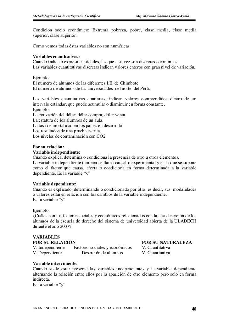 Metodología de la Investigación Científica               Mg. Máximo Sabino Garro Ayala   Condición socio económico: Extrem...
