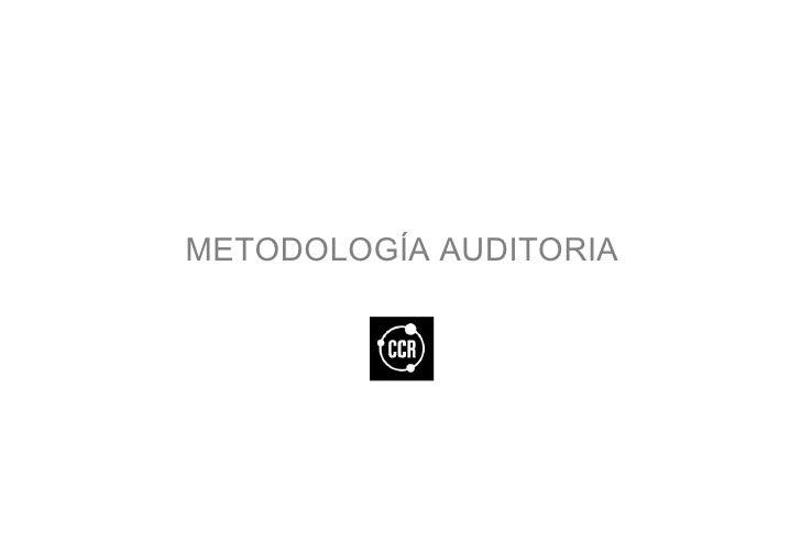 METODOLOGÍA AUDITORIA