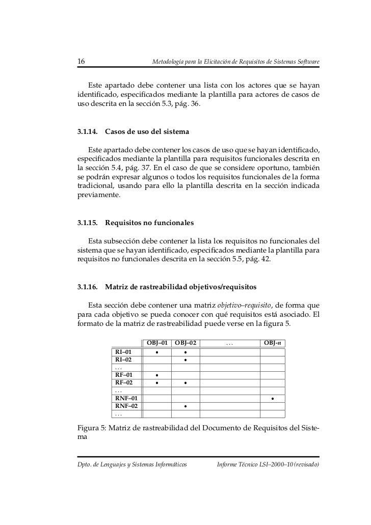 Metodología para la elicitación de requisitos de sistemas software