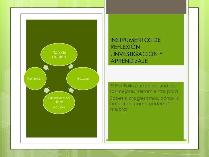 INSTRUMENTOS DE                                   REFLEXIÓN             Plan de             acción                        ...