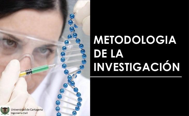 METODOLOGIA                           DE LA                           INVESTIGACIÓNUniversidad de CartagenaIngeniería Civil