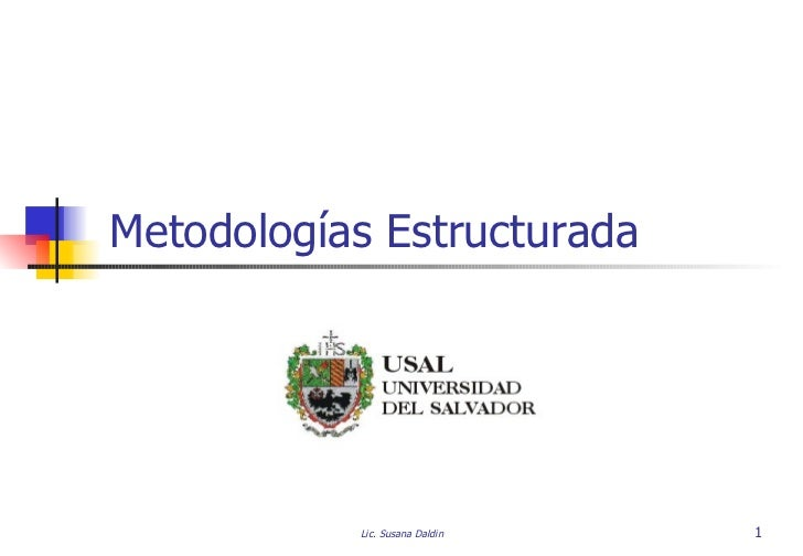 Metodologías Estructurada