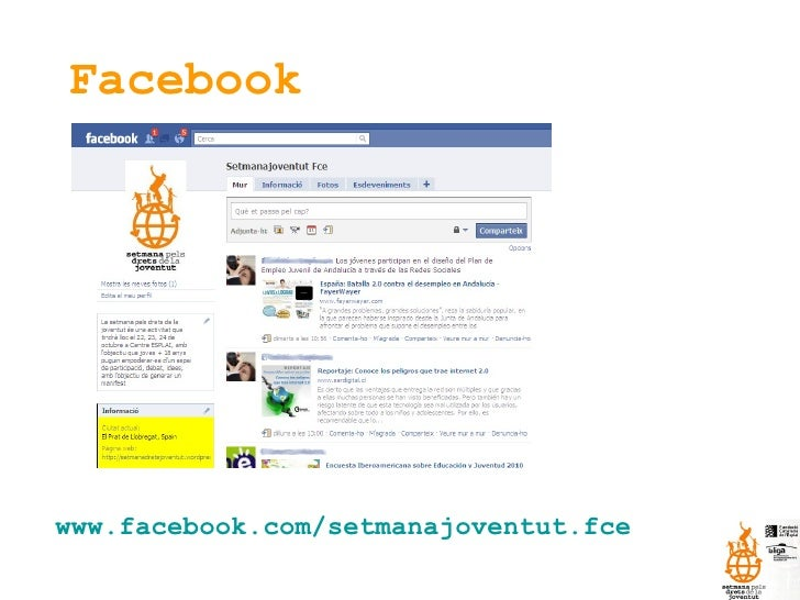 Facebook www.facebook.com/setmanajoventut.fce