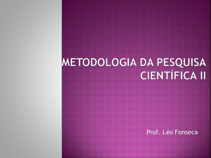 Prof. Léo Fonseca
