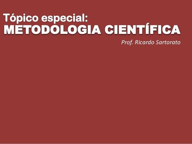 Prof. Ricardo Sartorato