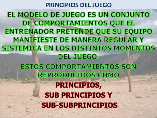 PRINCIPIOS DEL JUEGO MARCAJE  REPLIEGUE  RELEVO  SUBPRINCIPIOS ESPECIFICOS DEFENSIVOS  PRESION  COBERTURA  PERMUTA