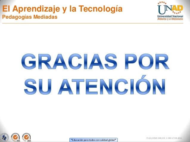 El Aprendizaje y la TecnologíaPedagogías Mediadas                                                                  FI-GQ-O...