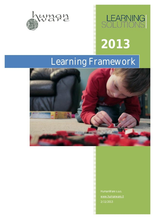 2013Learning Framework          HumanWare s.a.s.          www.humanware.it          2/11/2013