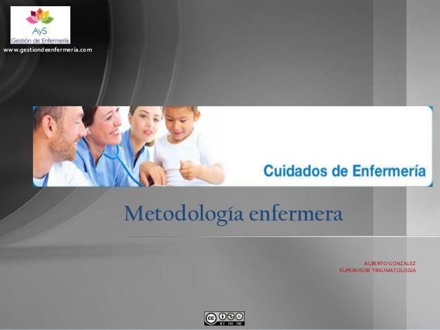 www.gestiondeenfermeria.com  Metodología enfermera ALBERTO GONZALEZ SUPERVISOR TRAUMATOLOGÍA