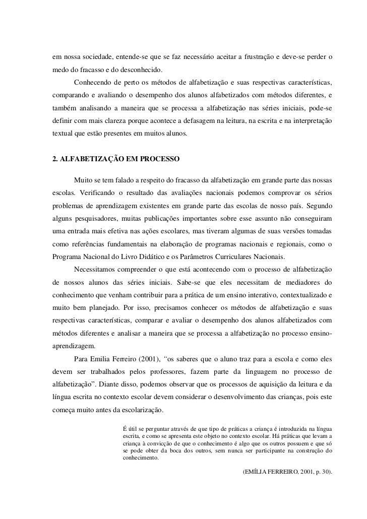 Metodologia e processo da alfabetizacão das séries iniciais Slide 3