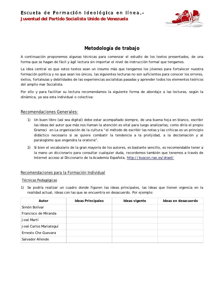 Escuela de Formación Ideológica en línea.-Juventud del Partido Socialista Unido de Venezuela                              ...