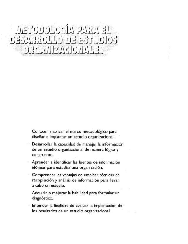 Metodologia estudios organiacionales