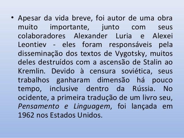 6c9dde362fa 4. Principais obras de Vygotsky publicadas no Brasil ...