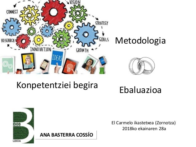 Metodologia Ebaluazioa ANA BASTERRA COSSÍO El Carmelo ikastetxea (Zornotza) 2018ko ekainaren 28a Konpetentziei begira