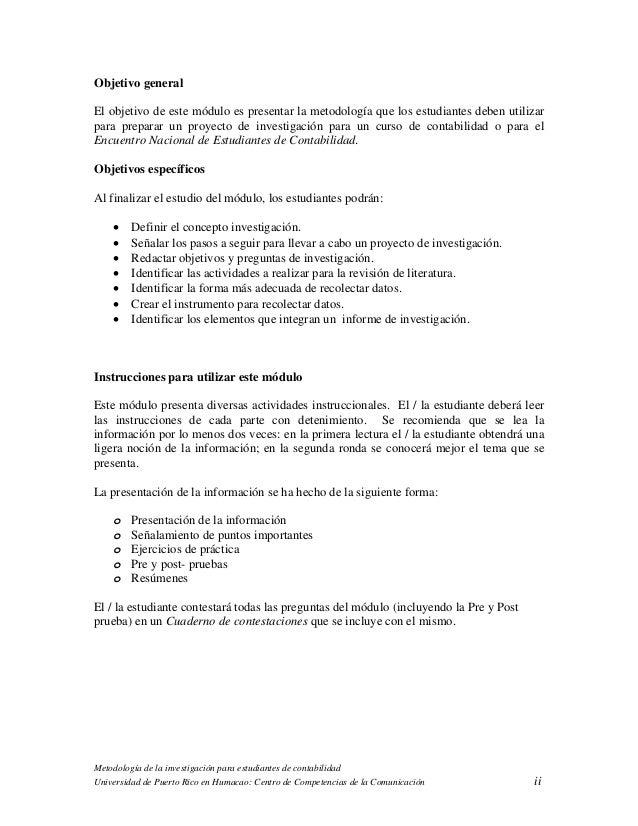 Metodologia investigacion contabilidad