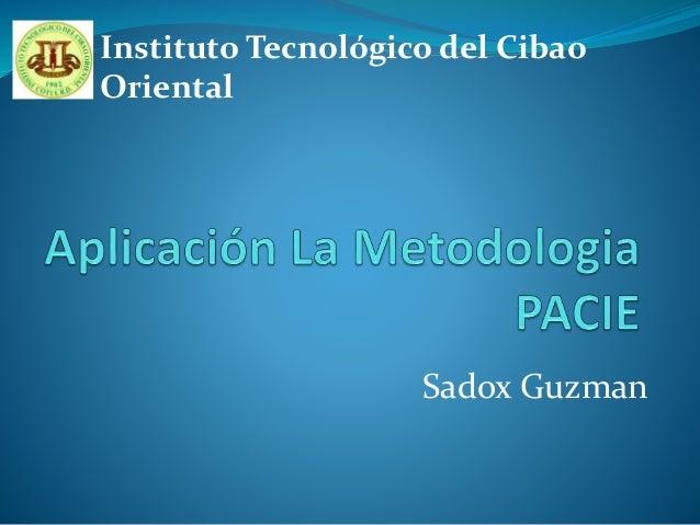 Sadox Guzman Instituto Tecnológico del Cibao Oriental