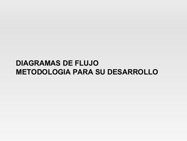 DIAGRAMAS DE FLUJOMETODOLOGIA PARA SU DESARROLLO