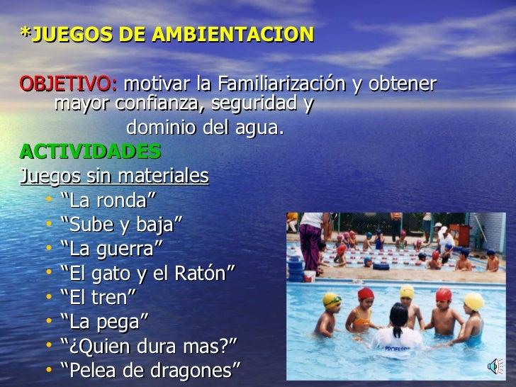 Metodologia para la natacion.