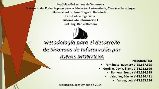 República Bolivariana de Venezuela  Ministerio del Poder Popular para la Educación Universitaria, Ciencia y Tecnología  Un...