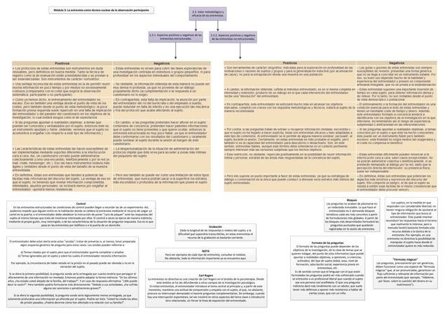 Módulo 3: La entrevista como técnica nuclear de la observación participante                                               ...