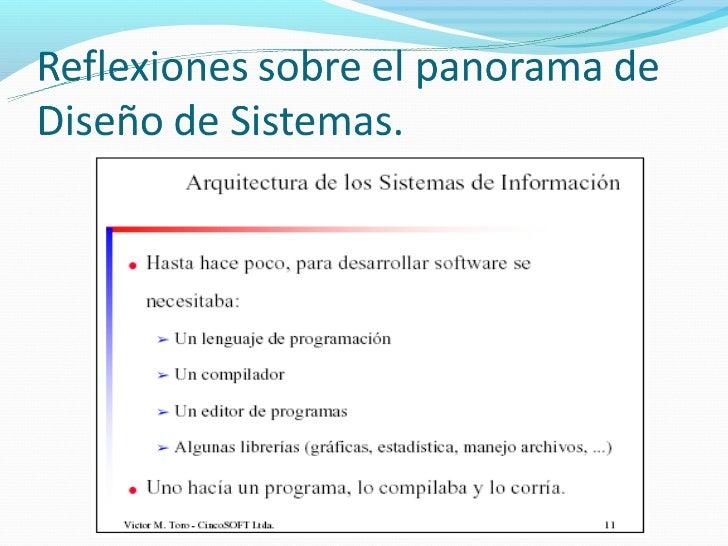 CONCEPTOS DE DISEÑO DE SISTEMASSubsistema: Descomposición en partes más simples de un sistema.Servicio: Conjunto de Oper...