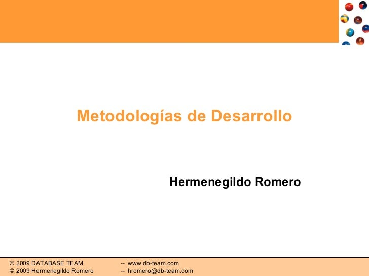 Metodologías de Desarrollo Hermenegildo Romero
