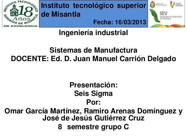 Instituto tecnológico superior         de Misantla                        Fecha: 16/03/2013              Ingeniería indust...