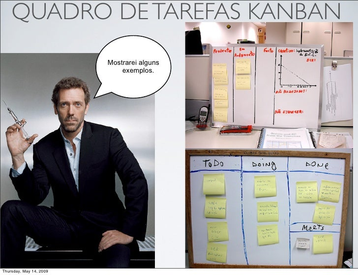 QUADRO DE TAREFAS KANBAN                          Mostrarei alguns                              exemplos.     Thursday, Ma...