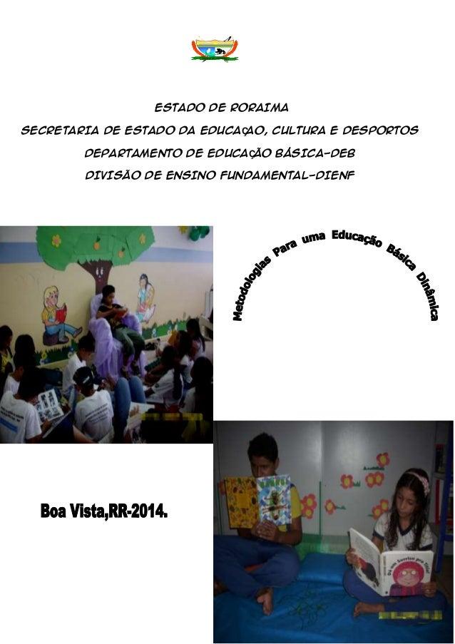 ESTADO DE RORAIMA SECRETARIA DE ESTADO DA EDUCAÇAO, CULTURA E DESPORTOS DEPARTAMENTO DE EDUCAÇÃO BÁSICA-DEB DIVISÃO DE ENS...
