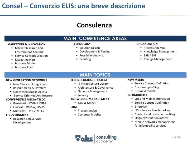 Consel – Consorzio ELIS: una breve descrizione                                            Consulenza                      ...