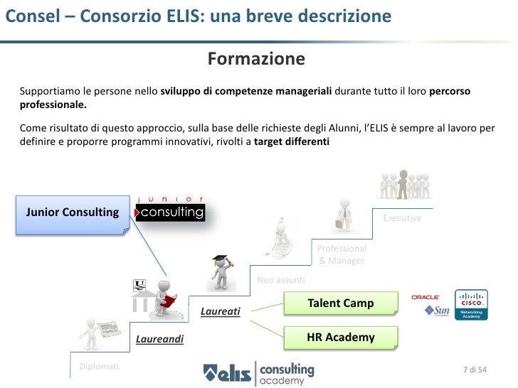 Consel – Consorzio ELIS: una breve descrizione                                          Formazione Supportiamo le persone ...