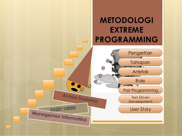METODOLOGI EXTREME PROGRAMMING Pengertian Tahapan Artefak Role Pair Programming Test Driven Development User Story