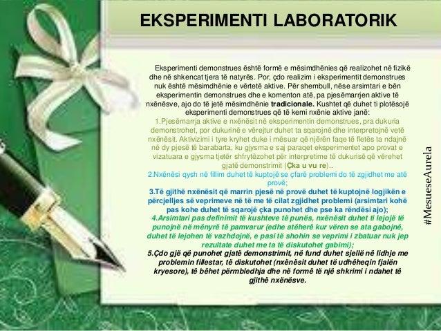 Eksperimenti demonstrues është formë e mësimdhënies që realizohet në fizikë dhe në shkencat tjera të natyrës. Por, çdo rea...