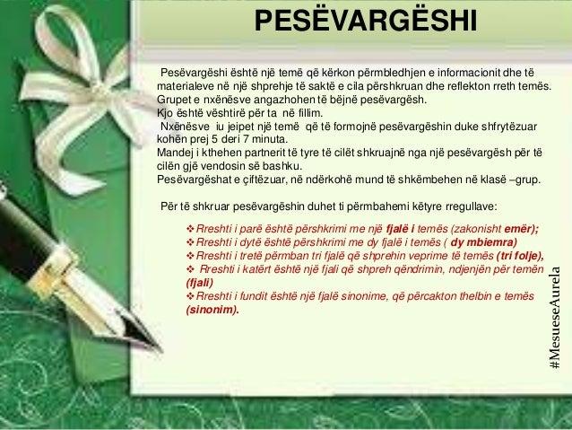 Pesëvargëshi është një temë që kërkon përmbledhjen e informacionit dhe të materialeve në një shprehje të saktë e cila përs...