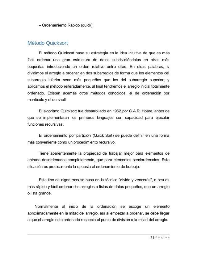 metodos de ordenamiento en c++ pdf