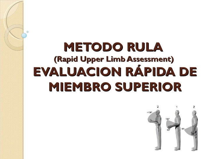 METODO RULA  (Rapid Upper Limb Assessment)EVALUACION RÁPIDA DE  MIEMBRO SUPERIOR