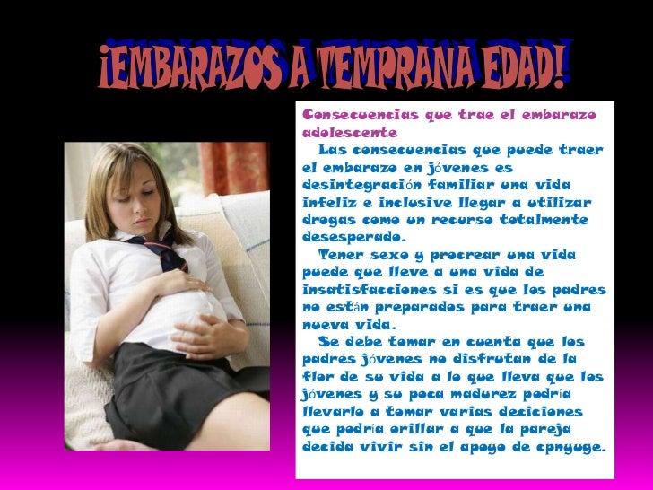 ¡EMBARAZOS A TEMPRANA EDAD!<br />Consecuencias que trae el embarazo adolescente<br />Las consecuencias que puede traer ...
