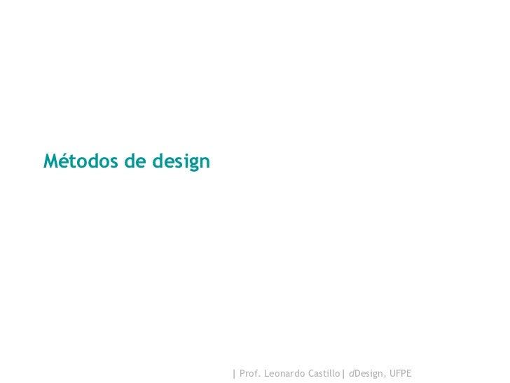 Métodos de design