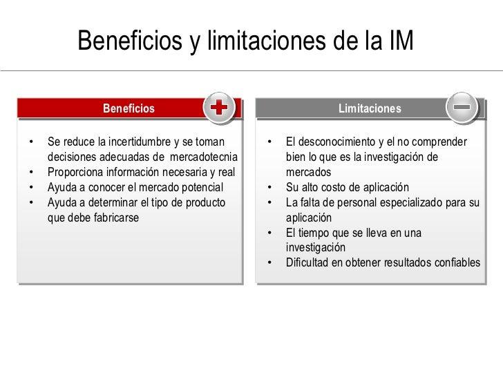 Beneficios y limitaciones de la IM                 Beneficios                 Positive                                    ...