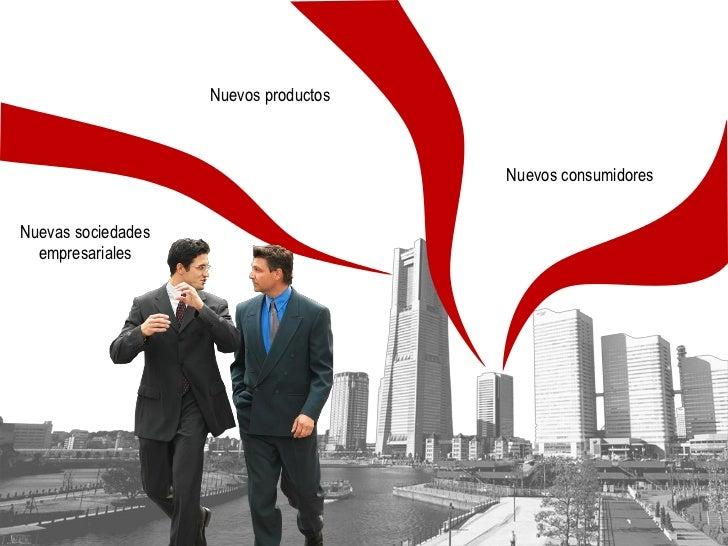 Nuevos productos                                           Nuevos consumidores   Nuevas sociedades   empresariales