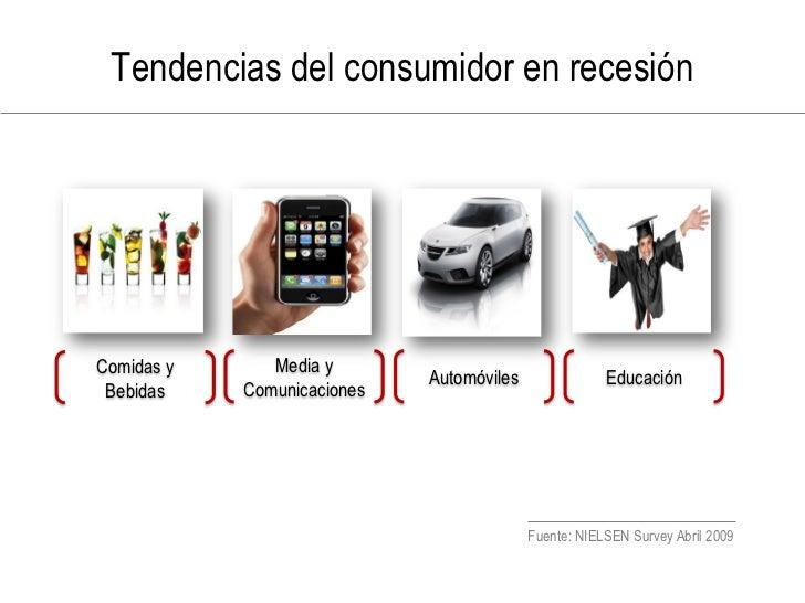 Tendencias del consumidor en recesión     Comidas y      Media y                              Automóviles               Ed...