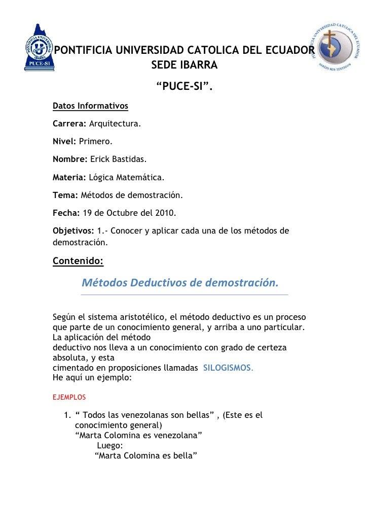 """5264785-453390-718628-453228PONTIFICIA UNIVERSIDAD CATOLICA DEL ECUADOR SEDE IBARRA<br />""""PUCE-SI"""".<br />Datos Informativo..."""