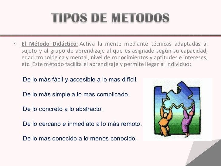 <ul><li>El Método Didáctico: Activa la mente mediante técnicas adaptadas al sujeto y al grupo de aprendizaje al que es as...